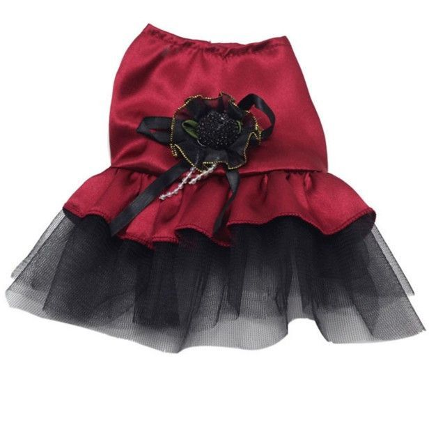 Sweet Lace Skirt Pet Puppy Dog Clothes Costume