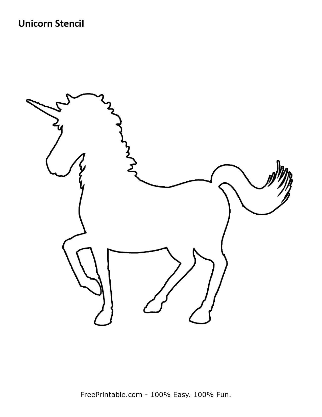 Free Printable Unicorn Stencils