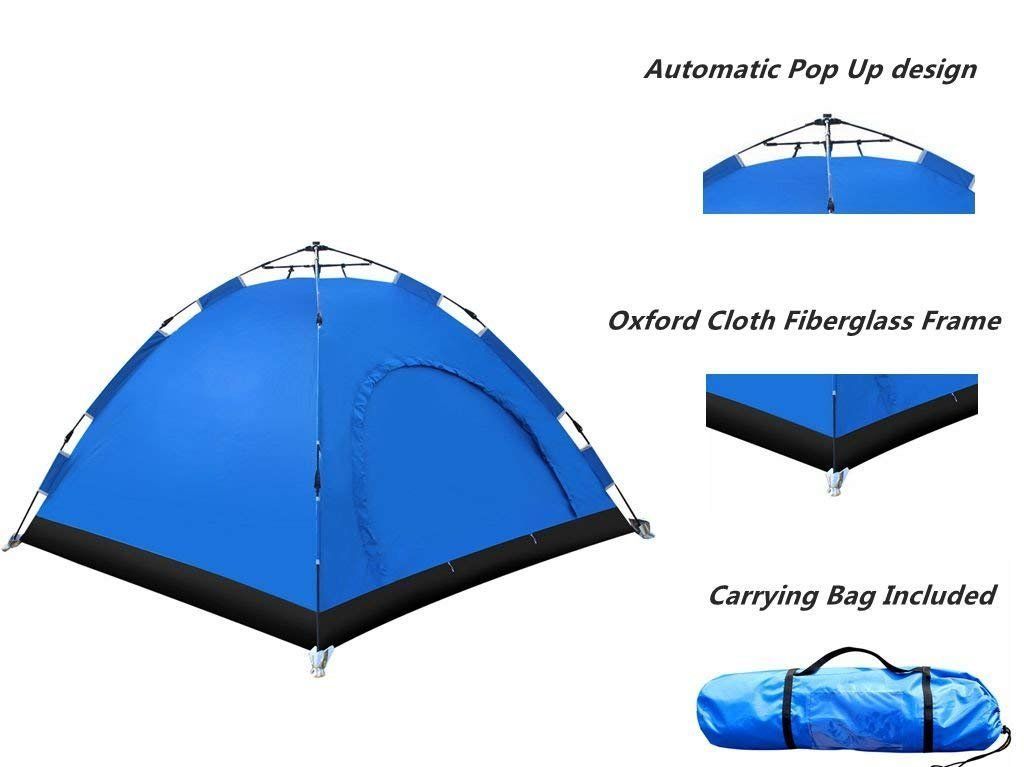 E Everking Automatic Camping Tent 23 Person 3 Season Waterproof Backpacking Tent Instant Setup Family Tents With Porta Tent Backpacking Tent Backpacking Travel