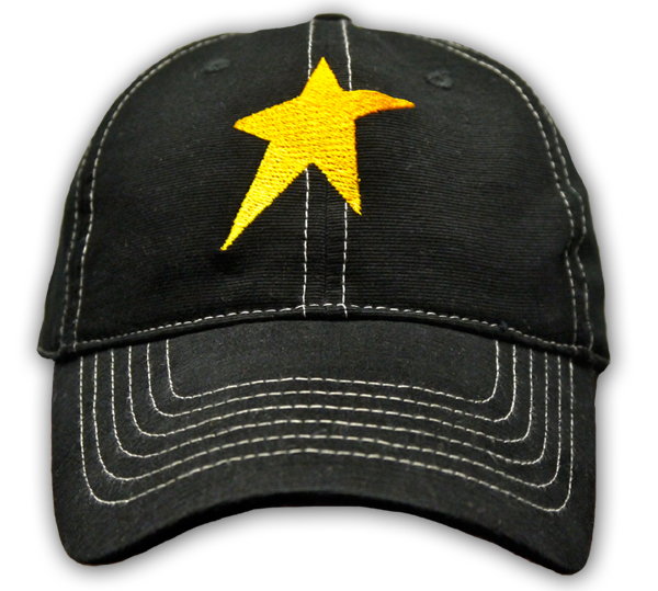 Baseball Cap with Peter and the Starcatcher embroidered on the back.
