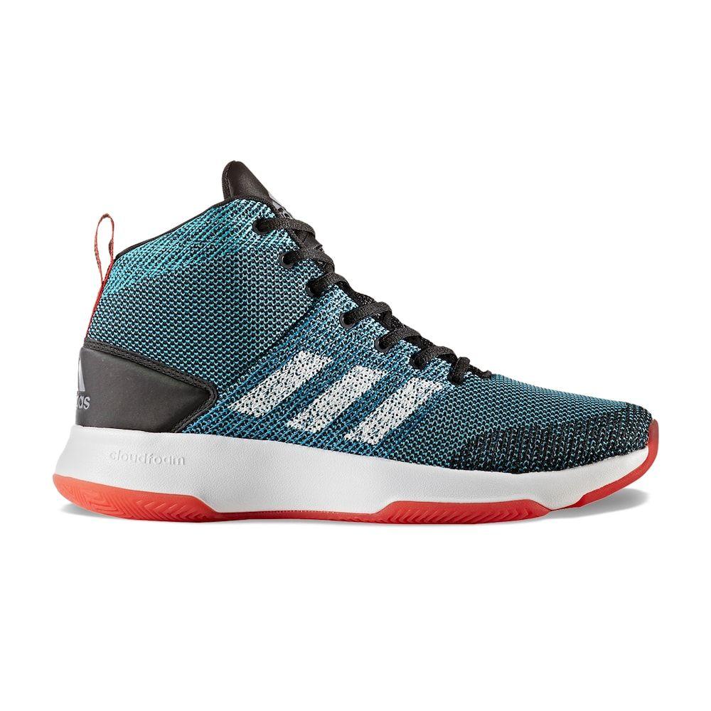 Adidas neo cloudfoam encendido mediados de los hombres zapatos de baloncesto, tamaño: