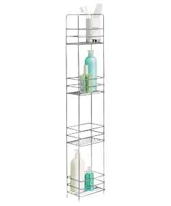 Buy Argos Home 4 Tier Wire Storage Unit Chrome Bathroom Shelves Argos Slimline Bathroom Storage Chrome Bathroom Shelves Bathroom Shelves