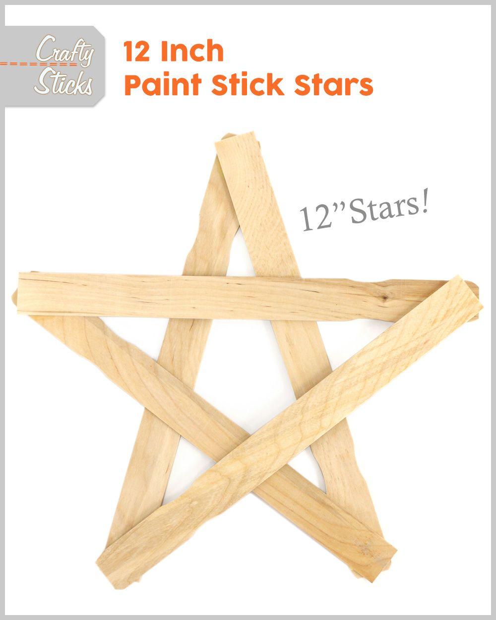 Wood Paint Stir Sticks 12 Natural Holiday Home Paint Stir