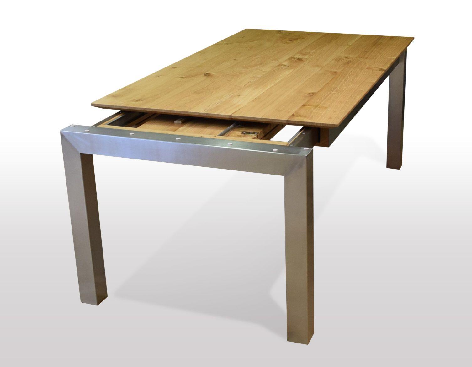 Tisch Wildeiche massiv Breite 110cm / Länge wählbar in