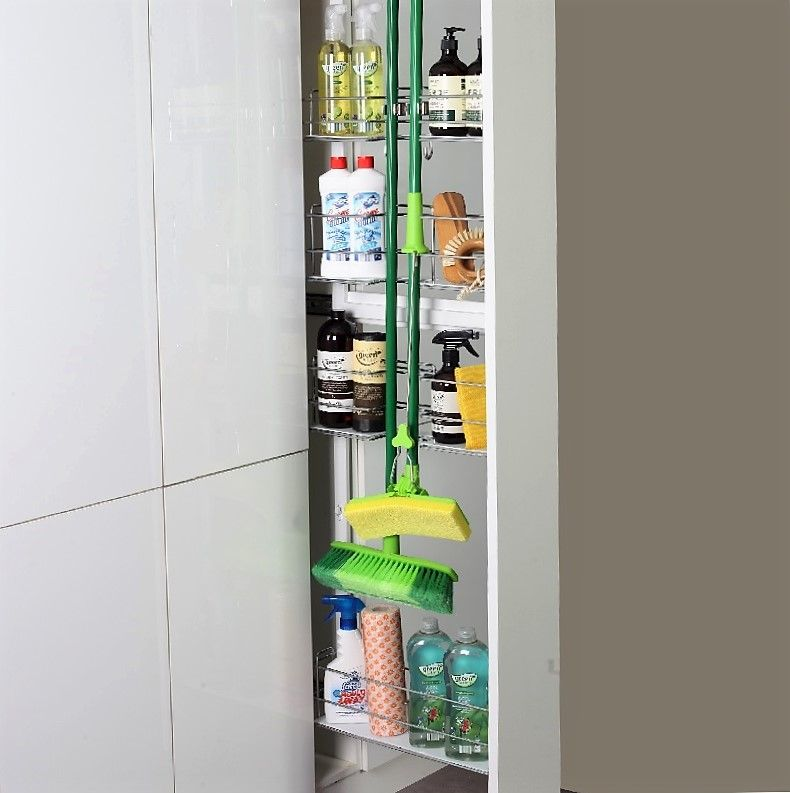 Stainless Steel Wire Broom Storage Pull