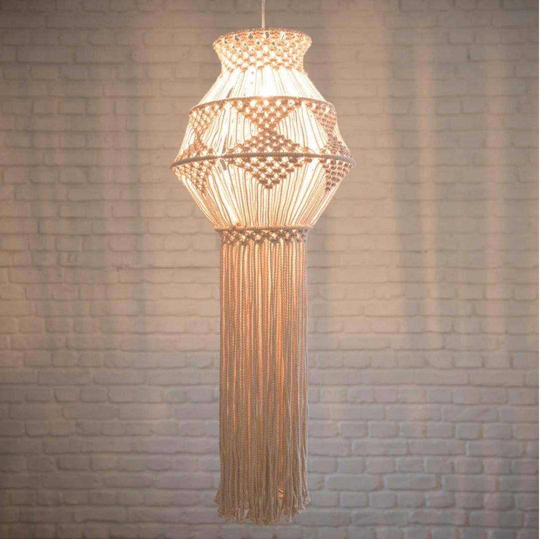 Macramé Chandelier, Macrame Decorative Wall Hanging, Macrame Lamp Shade By  MoulinEnFolie On Etsy