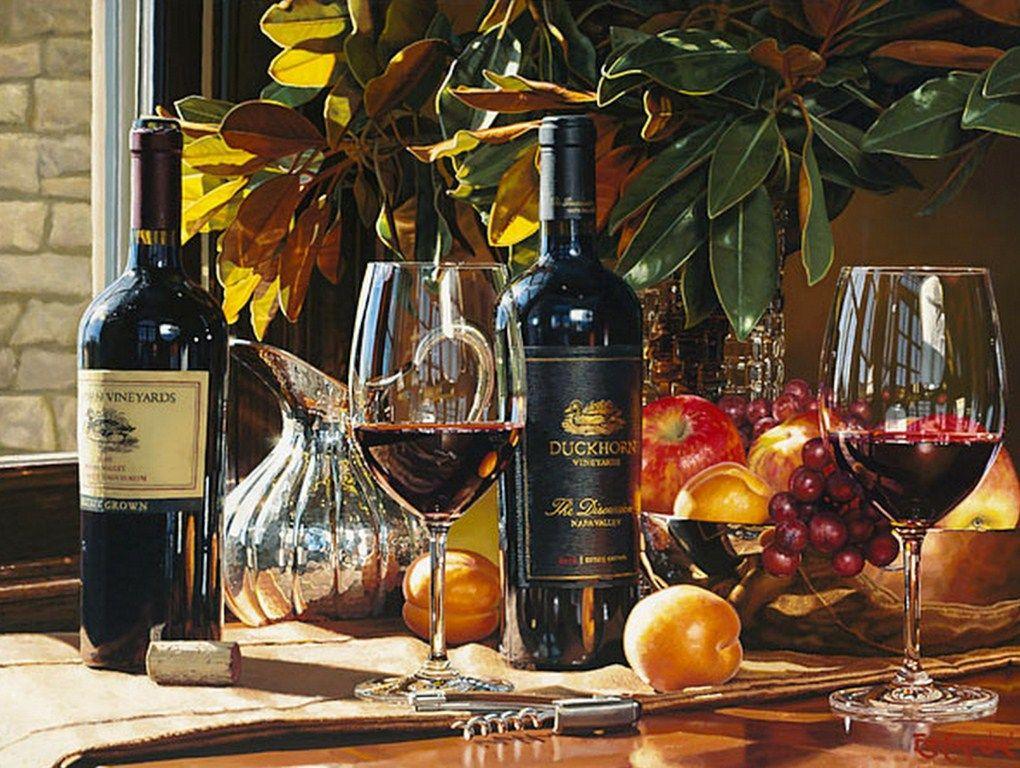 vino tinto con uvas
