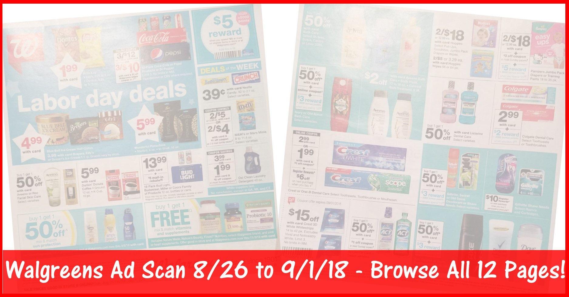 Walgreens Weekly Ad 8/26/18 - 9/1/18 ~ Walgreens Ad Preview