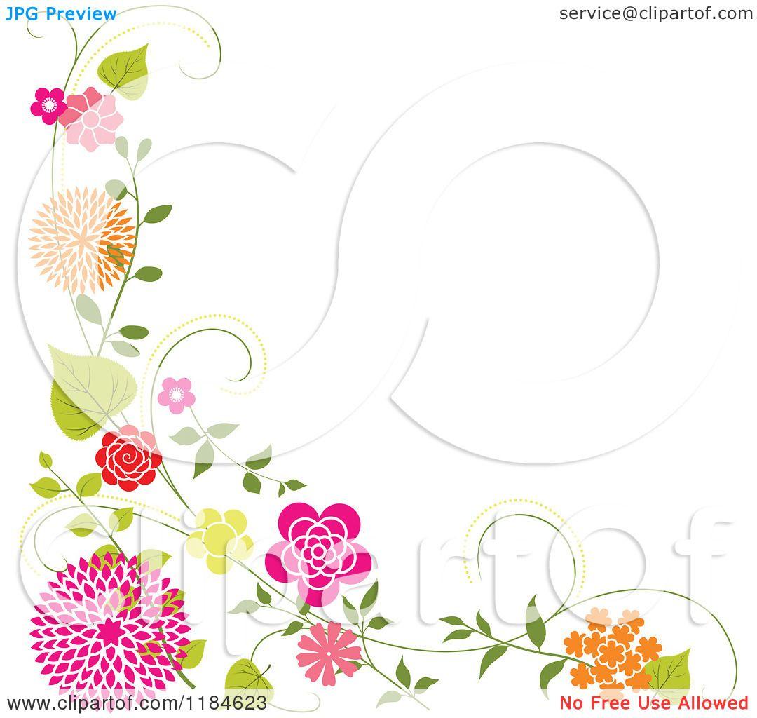 Royalty Free Vector Illustration By Dero 1184623 Clip Art Borders Free Vector Illustration Floral Border