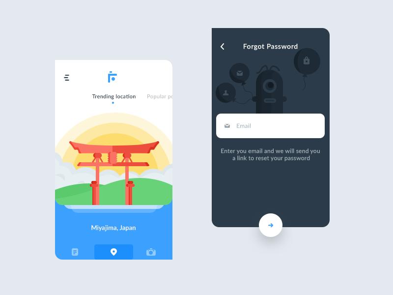 Trending+forgot password (flutter app) | app | App ui design