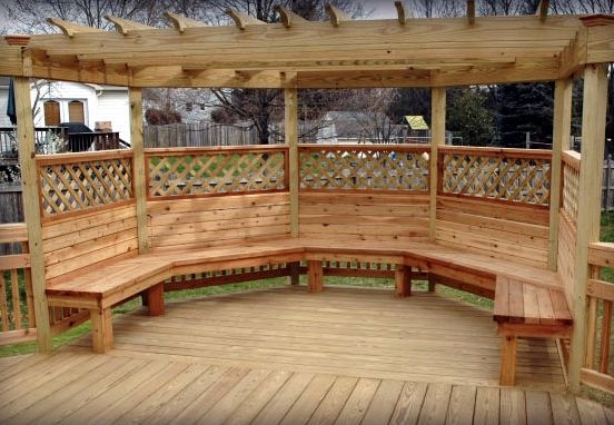 Octagon Deck With Benches Google Search Stuff To Try