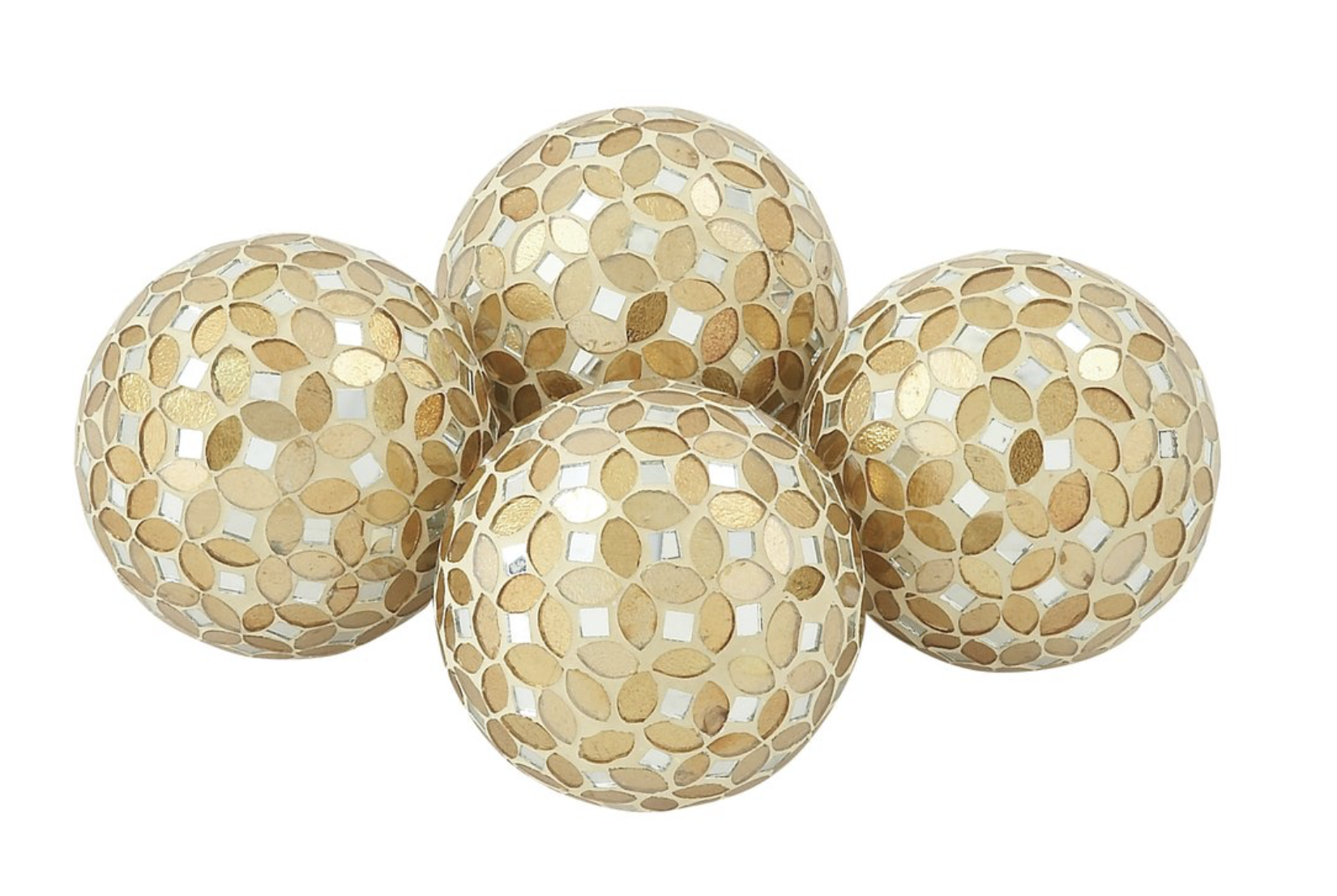 Mccary Pvc Glass Mosaic Orb Decorative Ball In 2020 Mosaic Glass Gold Home Accessories Decor