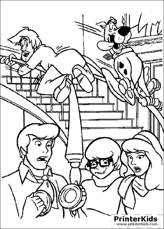 scooby doo coloring pages You are here PrinterKids Scooby Doo