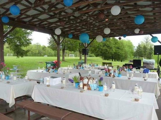 The Picnic Reception Was Held At A Nearby Park Parks For