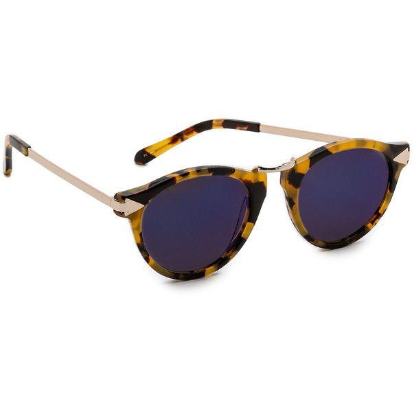 336ffac26a80 Karen Walker Superstars Collection Helter Skelter Mirrored Sunglasses  featuring polyvore, fashion, accessories, eyewear