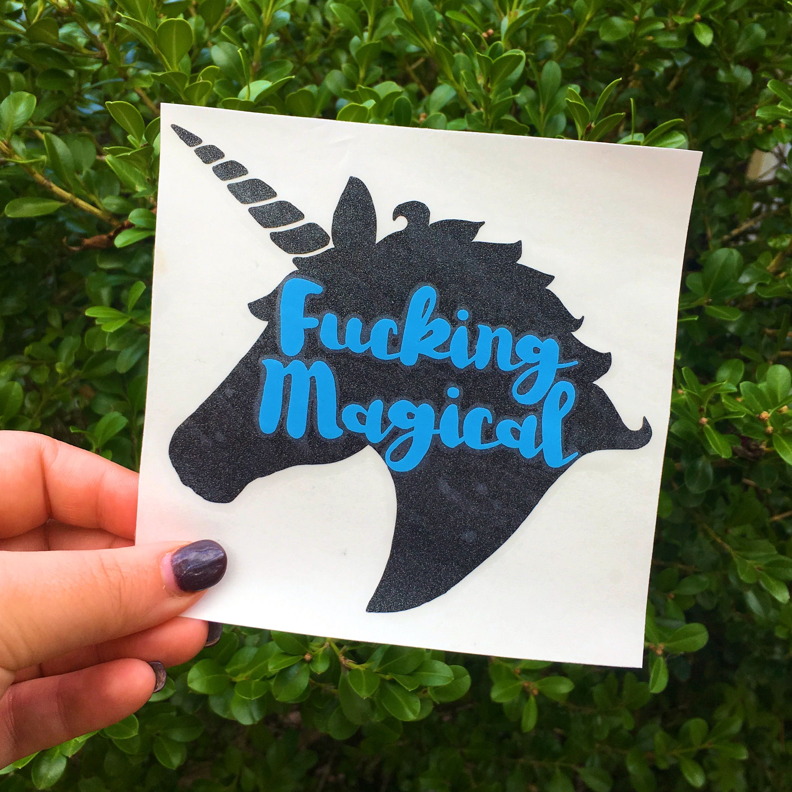 Unicorn Fucking Magical Decal Stickers #Decals #Monogram #Unicorn #Monogramdecals #Tumblerdecal