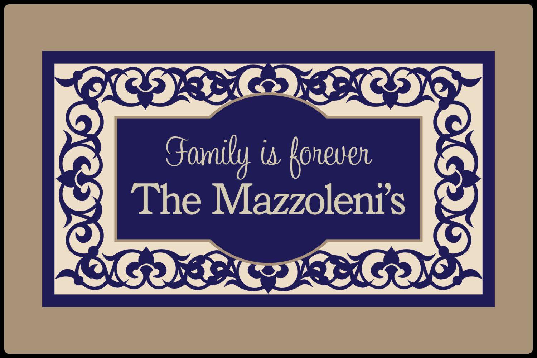 Elegant Flourish Family Front Door Mat Doormat Monogrammed Gifts ...