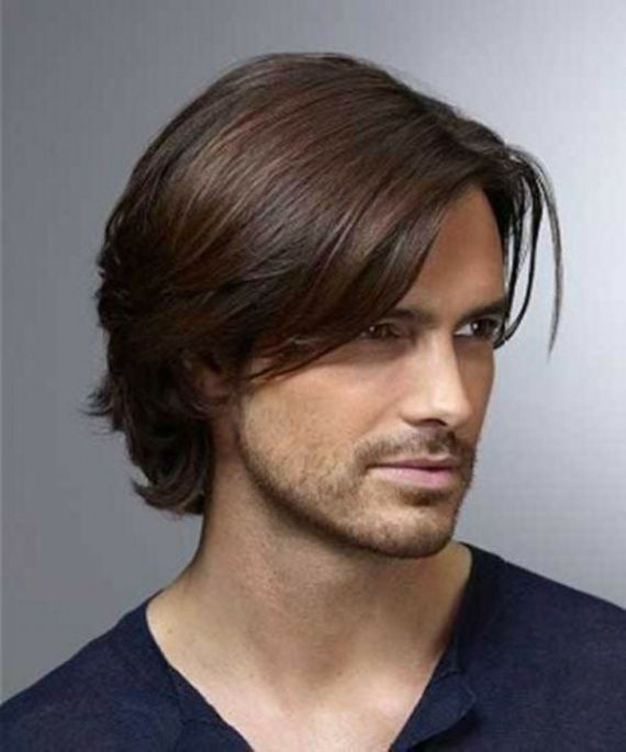 Cortes de pelo largo para hombres lacios