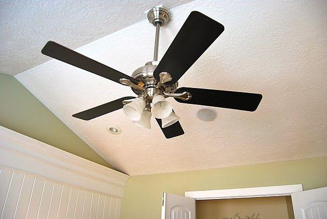 Fan Blade Inuries : Ceiling fan painted black diy pinterest home