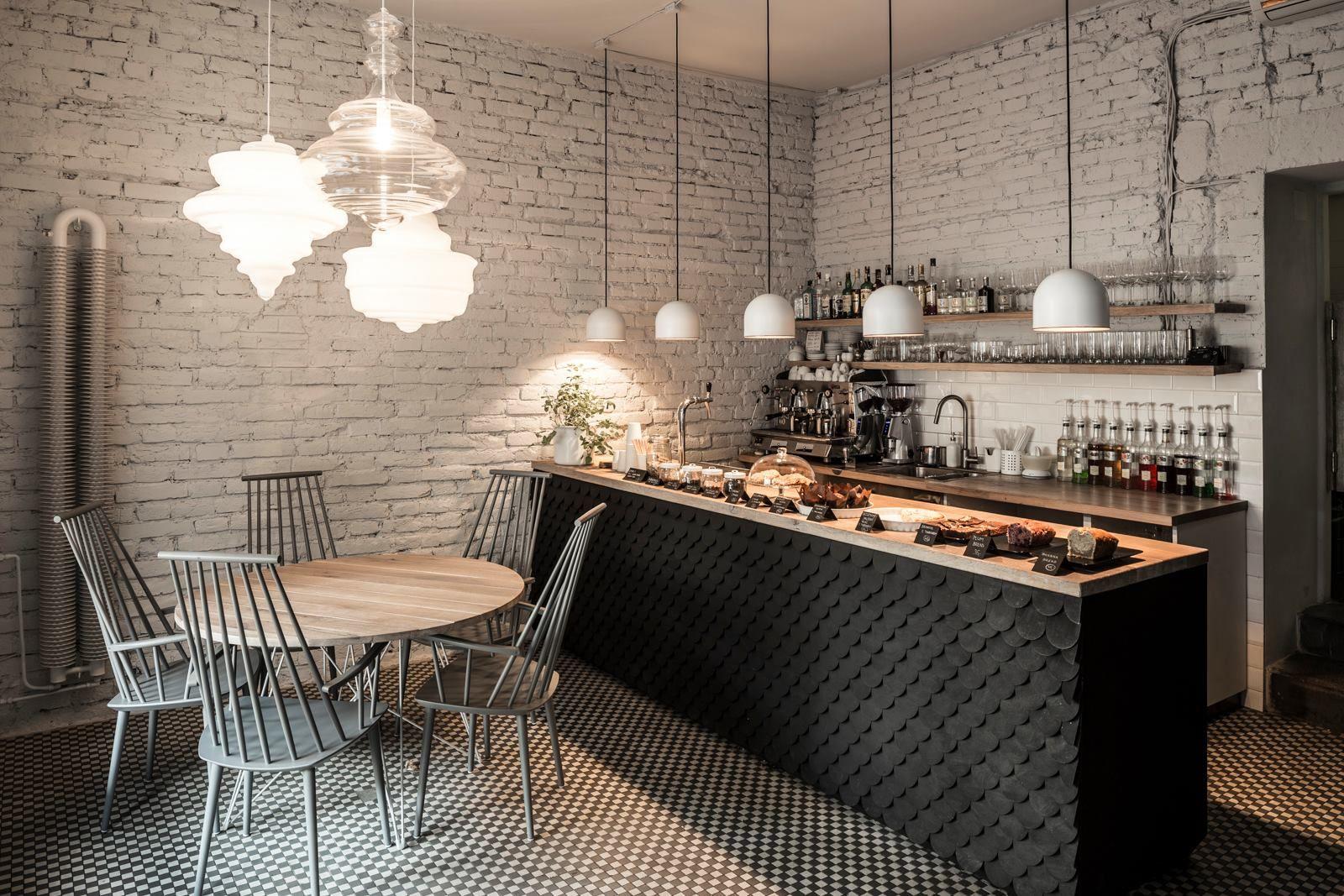 Prague Twenty 7 Restaurant Aux Briques Blanches Et Noires