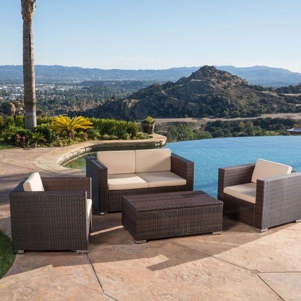 Murano 4-piece Outdoor Wicker Sofa Set by Christopher ...
