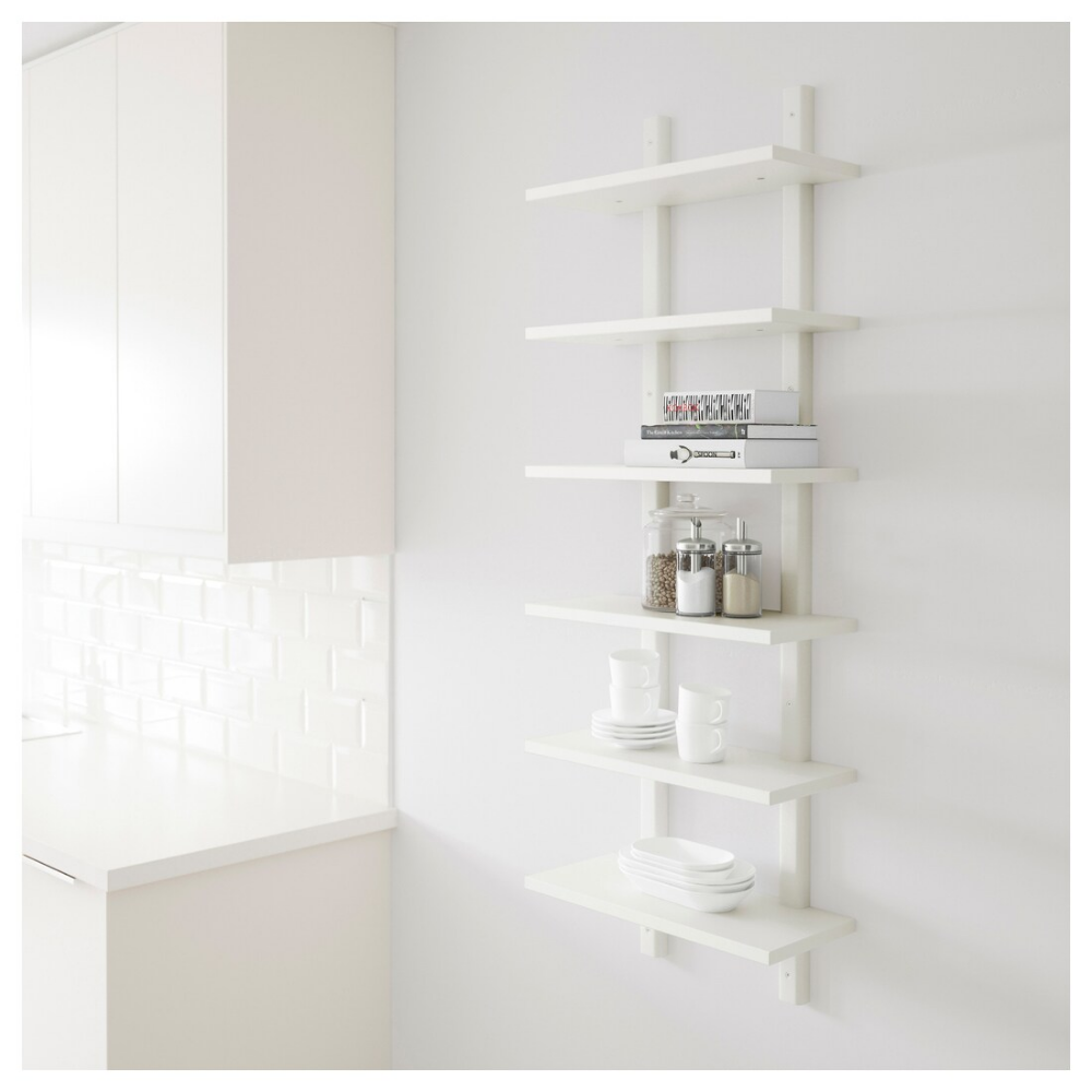 VÄRDE white, Wall shelf, 50x140 cm IKEA Wall shelves