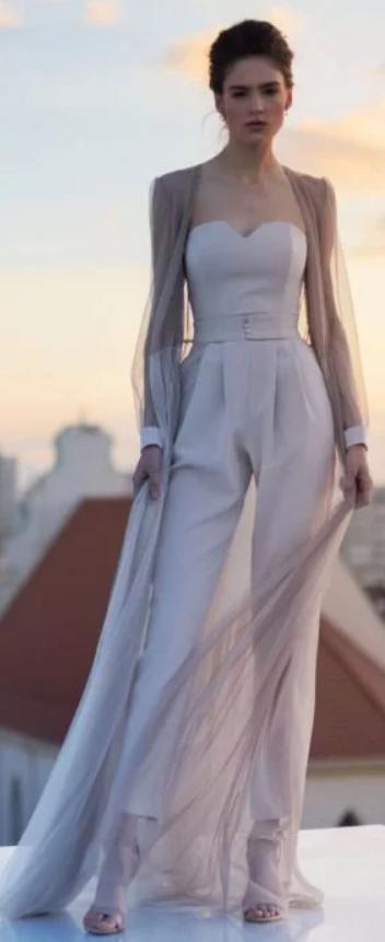 Blush Pantsuit For Wedding