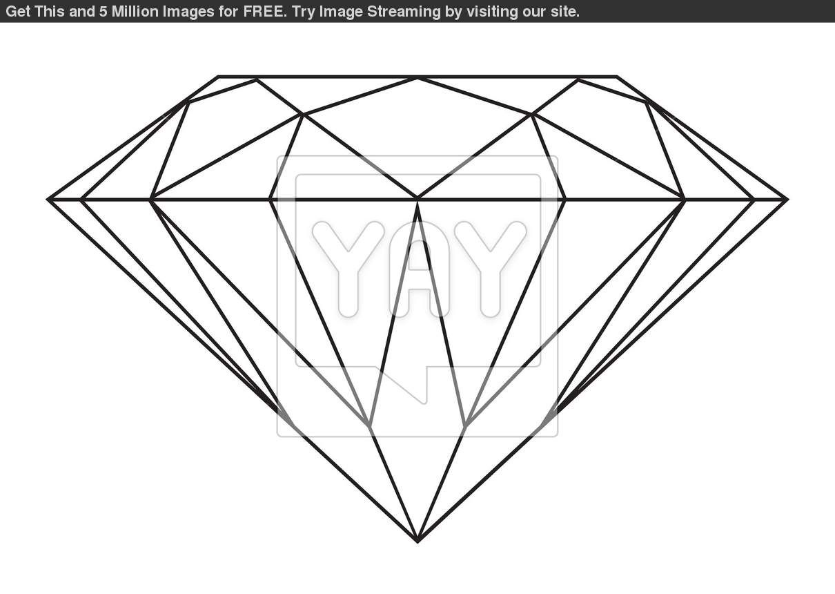 Royalty Free Image of Diamond Outline | Déco | Pinterest - photo#46