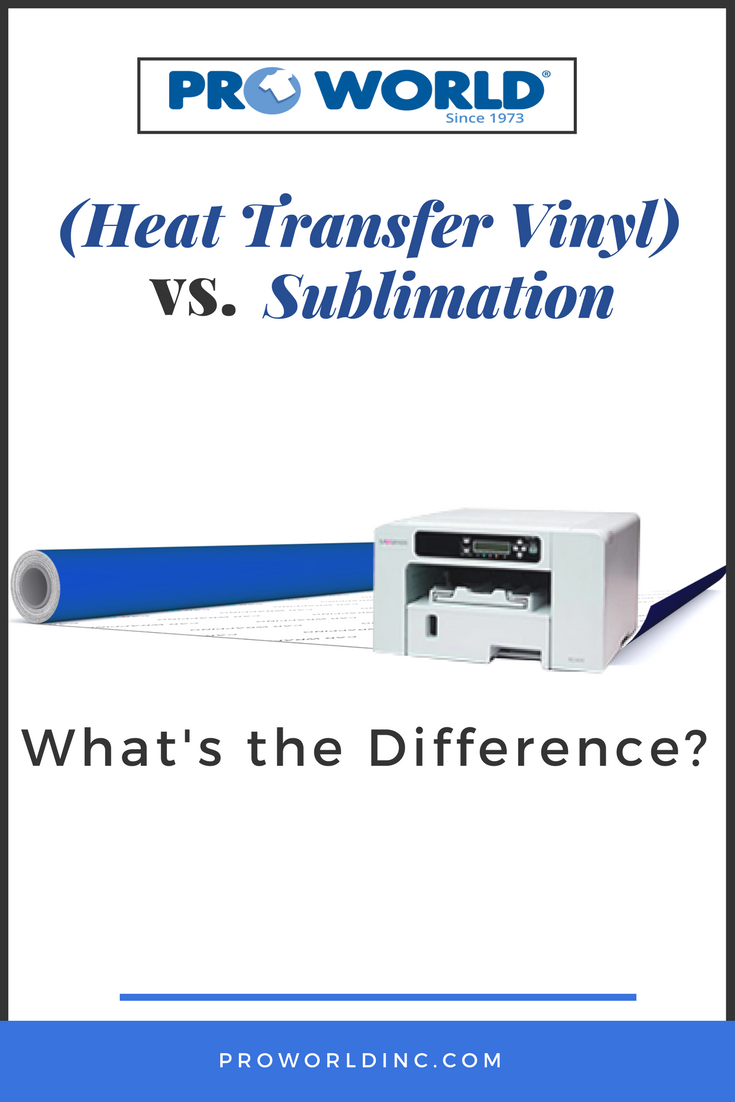 ad7e9876 Heat Transfer Vinyl (HTV) vs. Sublimation - What's the Difference - Pro  World Inc.