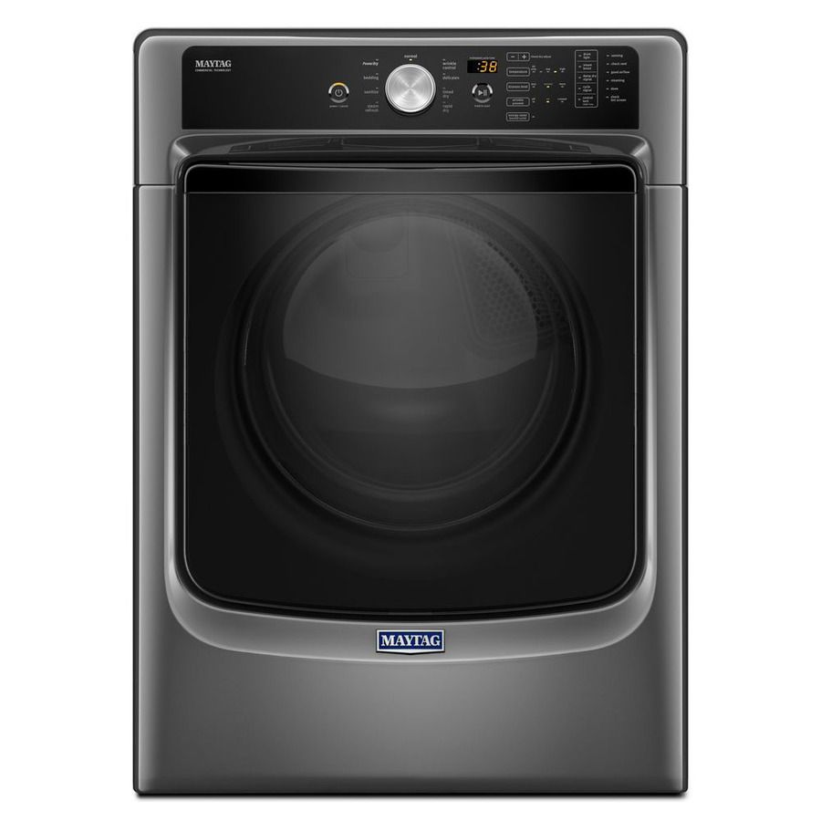 Maytag 7.4-cu ft Stackable Gas Dryer with Steam Cycle (Metallic Slate)