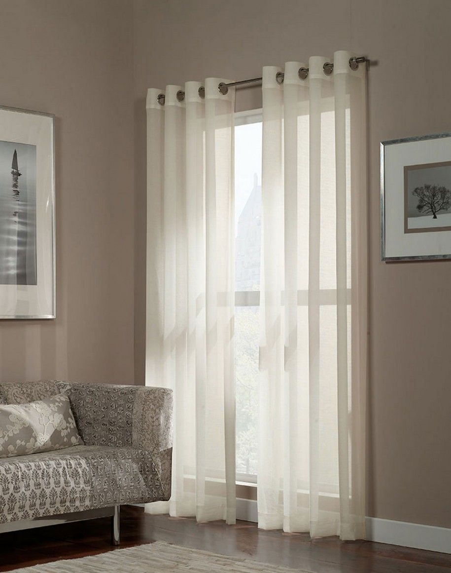 Ideas Of Curtains For French Doors Grommet Semi Sheer