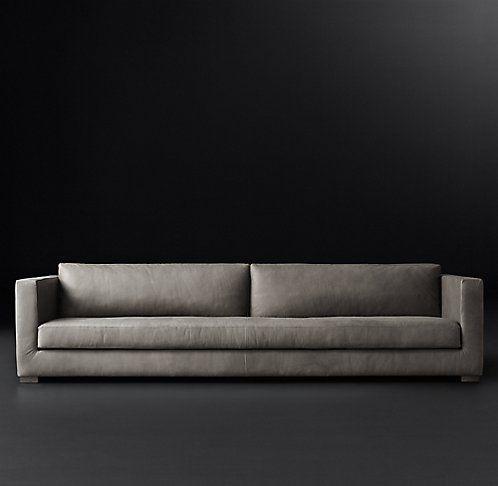 Modena Shelter Arm Leather Sofa Rh Modern 105