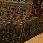 Arabian futon cover is of the finest quality tapestry featuring Moroccan theme in rich colors of burgundy, #tan, #green and pinch of black #futoncovers