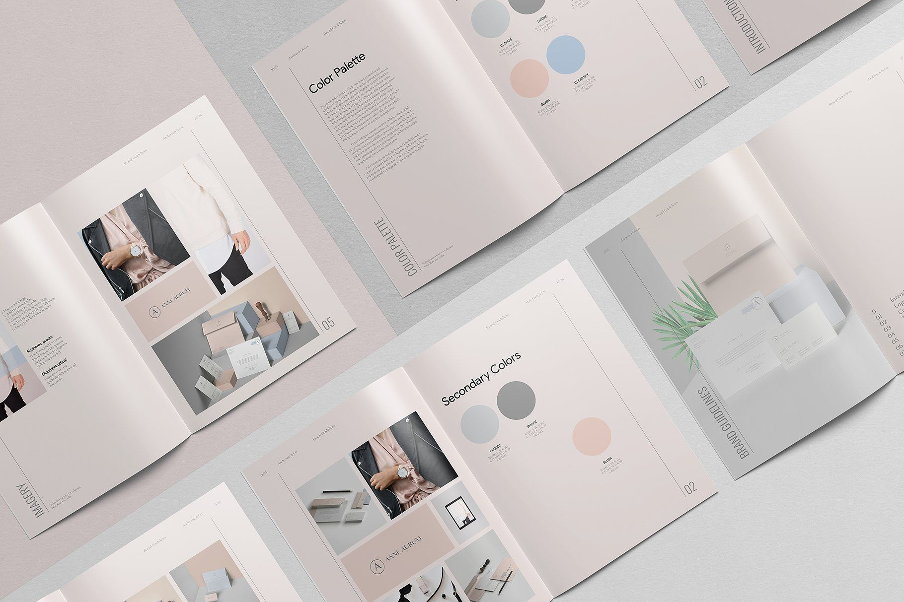 Anderson Brand Guidelines Template By Amabile On Creativemarket