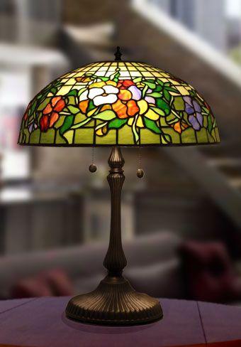 Lámpara de mesa Pansy Ø 41cm Vitrales Pinterest Lámparas de
