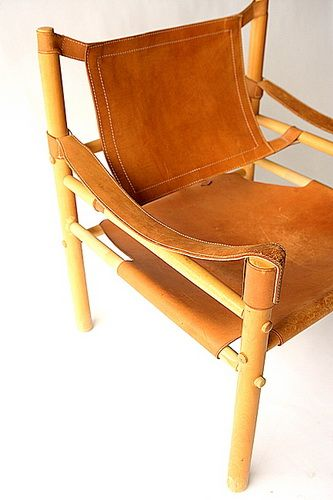 60s leather and wood chair from Salvage One in Chicago. Like a Mai Thai-