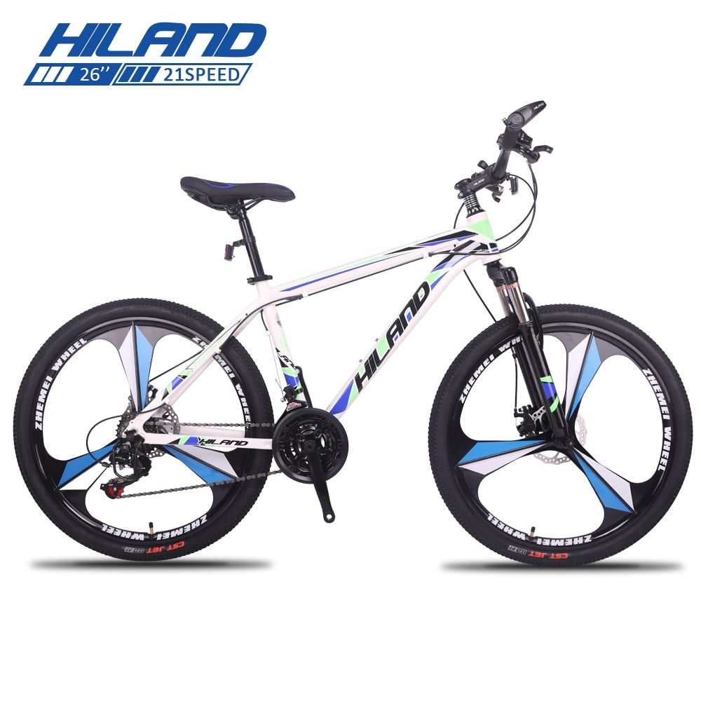 Hiland 26 Inch Bicycle 21 Speed Gears Mountain Bike Suspension Bicycle With Shimano Tz50 Derailleur Anddisc Breaks Mountain Bike Suspension Bicycle Bike