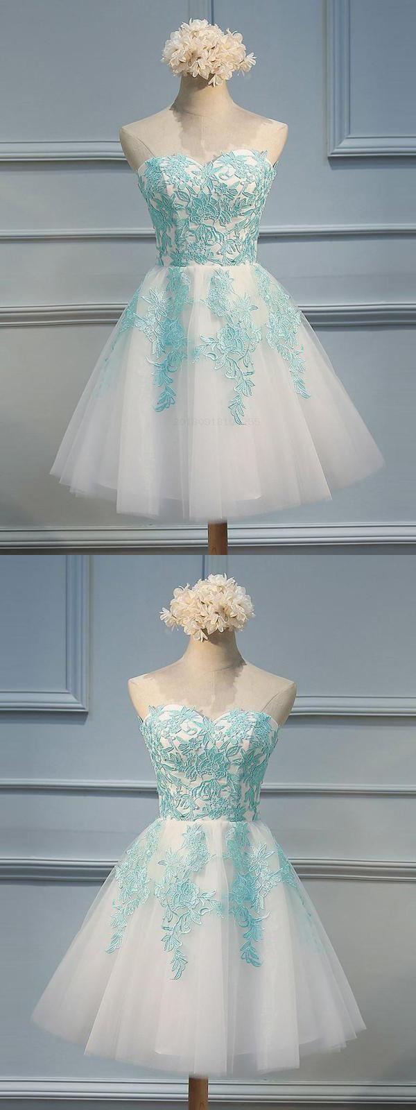 Hot sale appealing light blue prom dress appliques prom dress prom
