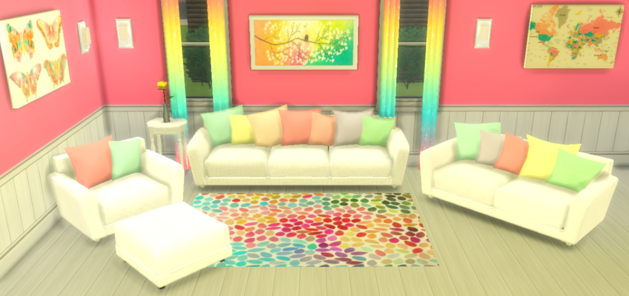 pastel colored furniture. pastel hydrogen furniture set colored just in time for easter mesh created