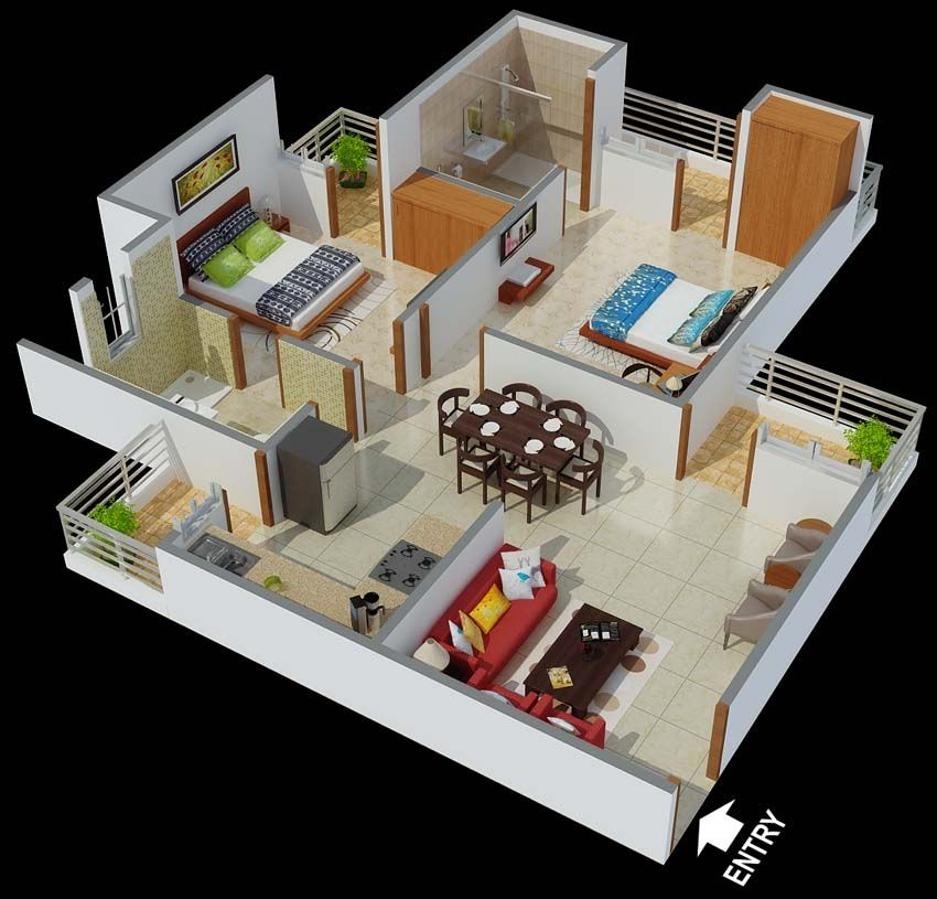 Floor Plan View Of ‪#‎housedesign‬ By MMH ‪#‎homedesign‬
