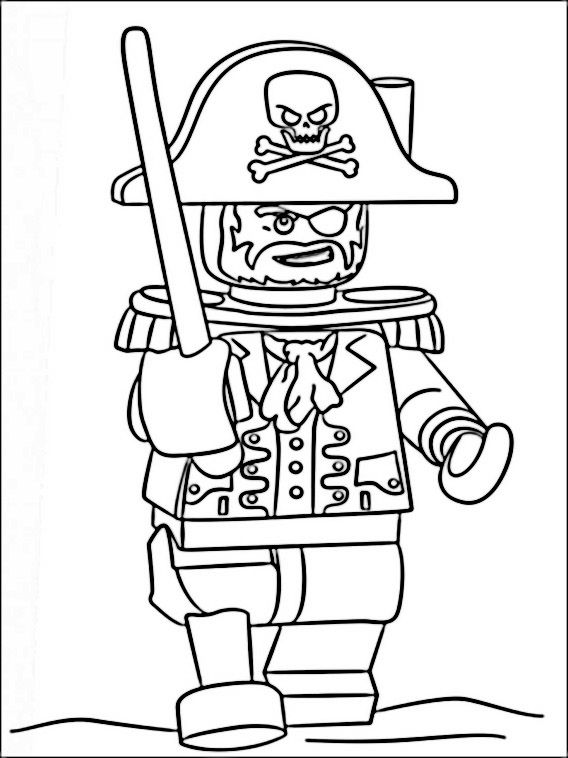 Lego Pirates Coloring Pages 1 | Lego | Pinterest | Legos
