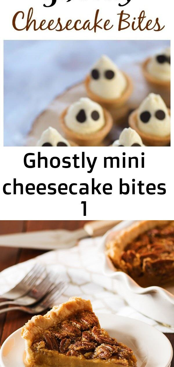 Ghostly mini cheesecake bites 1 Fun and easy Halloween dessert  cute Ghostly mini cheesecake bites recipe  great for Halloween party food  Eats Amazing UK Texas Pecan Pie...