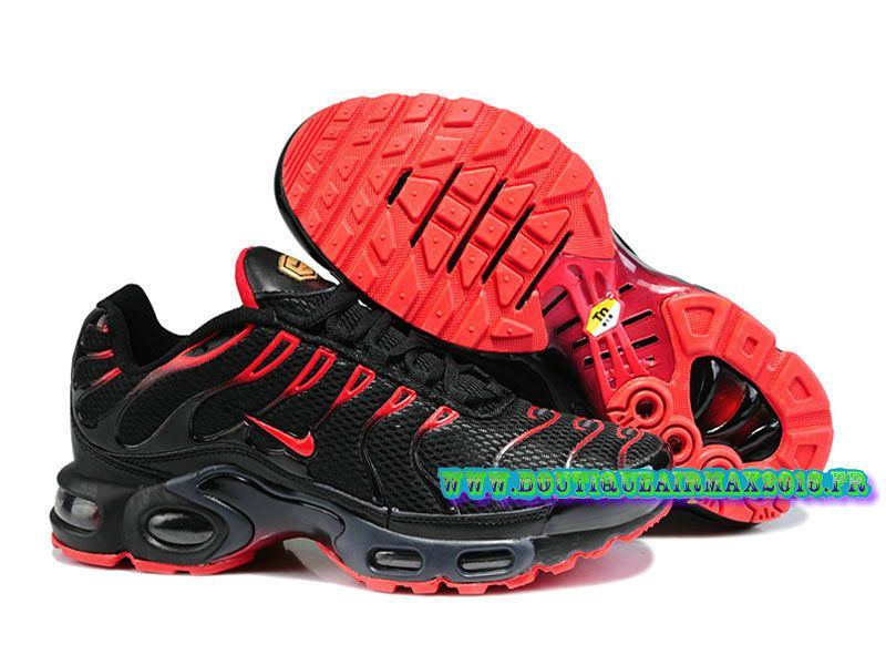 Nike Air Max Tn/Tuned Requin 2015 Pas Cher Chaussures Pour Homme Noir/Rouge