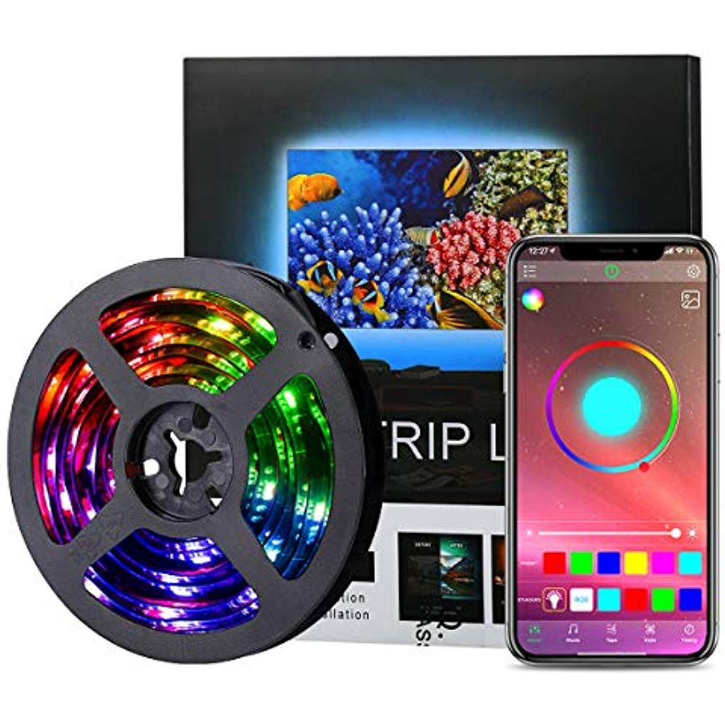 Amir Led Streifen 2m Rgb Led Strip Steuerbar Via App Wasserdichtes Lichtband Mit 16 Millionen Farben Sync Mit Musik Tv Hinterg In 2020 Led Streifen Led Stripes Rgb Led