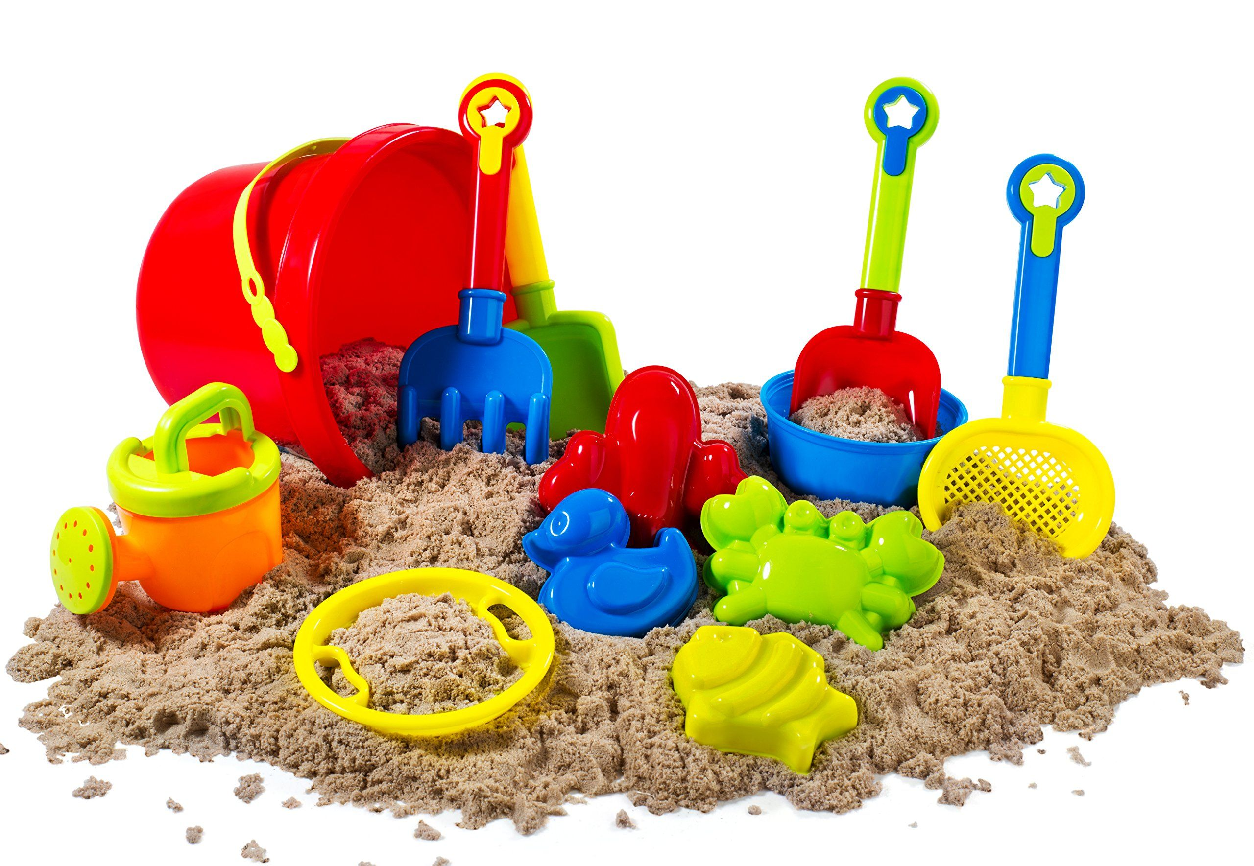 Big 12 Pcs Beach Toy Sand Set For Kids Sand Play Set With Bucket