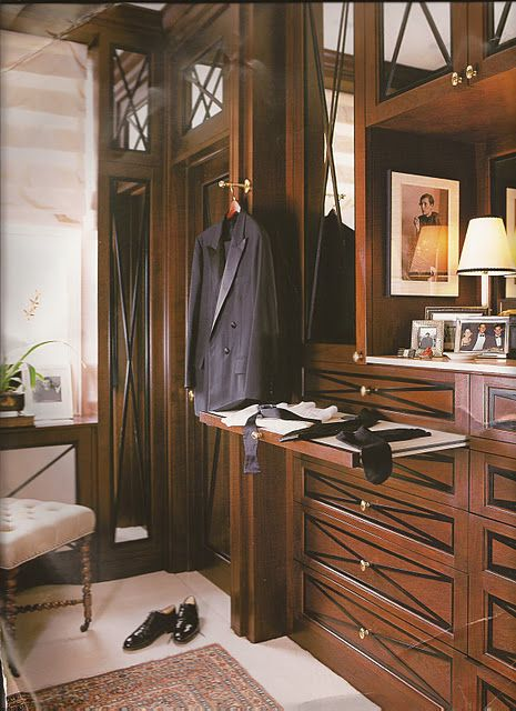 Beau A Masculine Closet For Him. When I Have A House, This Is Going To Be There.  Awesome!