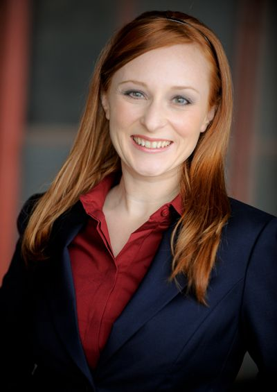 Redhead business suit pic