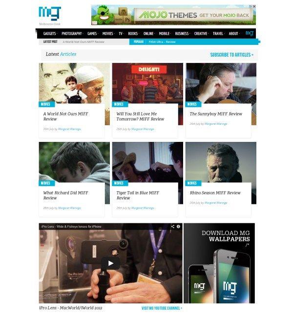 Melbourne Geek Web Design Blog Website Layout News Web Design