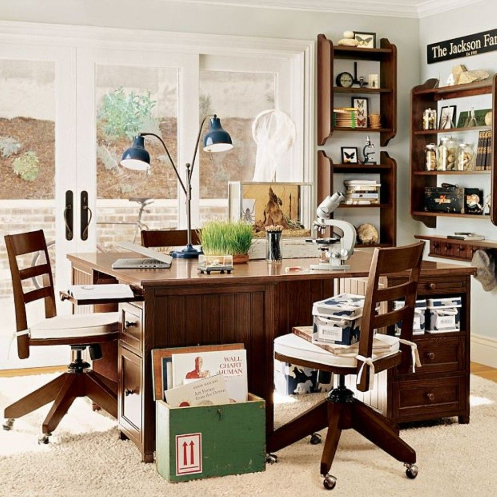 25 Kids Study Room Designs Decorating Ideas: Furniture Study Room Ideas: Dark Wood Furniture Study Room