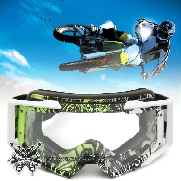 """Gafas Piloto Motocross Off-Road ATV Modelo """"Modern-Original"""" Color Verde -- 16,08€"""